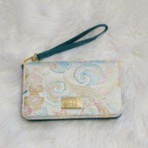 Betsey Johnson Asian Silk Design Wristlet